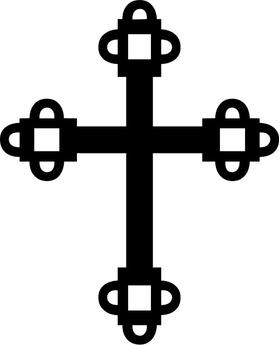 Christian Cross Decal / Sticker 93