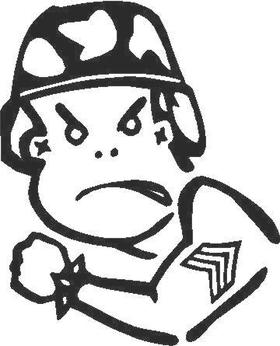 Army Boy Decal / Sticker
