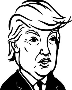 TRUMP Cartoon Decal / Sticker 16