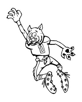 Football Bobcat Mascot Decal / Sticker 0