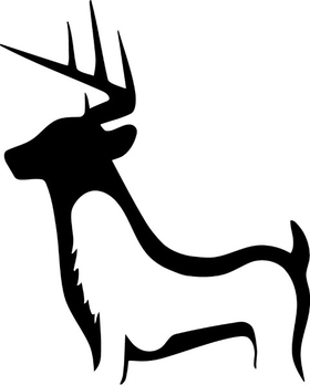 Chasing Tail Deer Decal / Sticker 01