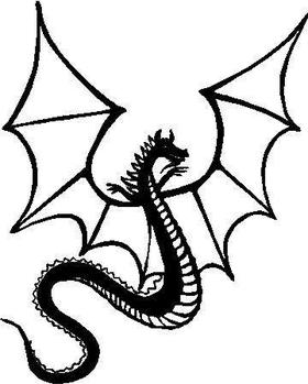 Dragon Decal / Sticker 01