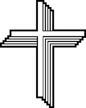 Christian Cross Decal / Sticker 86