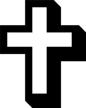 Christian Cross Decal / Sticker 95