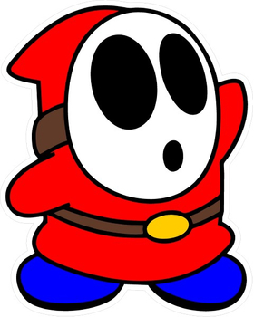 Shy Guy Decal / Sticker 03