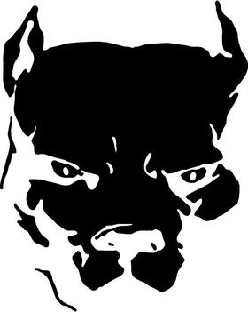 Pitbull Decal / Sticker 11