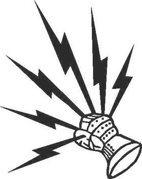 Fist of Lightning Decal / Sticker 02