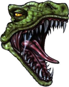 Raptor Dinosaur Decal / Sticker 01