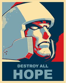 Vote Megatron Political Destroy All Hope Decal / Sticker 05