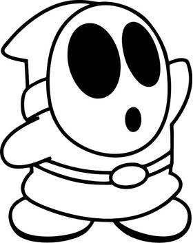 Shy Guy Decal / Sticker 04