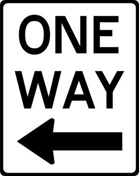 One Way Decal / Sticker 03