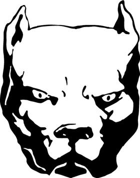 Pitbull Decal / Sticker 10