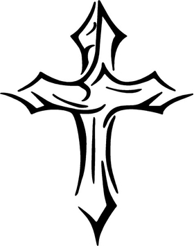 Tribal Cross Decal / Sticker 03