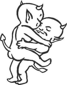 Horny Devils Decal / Sticker 01