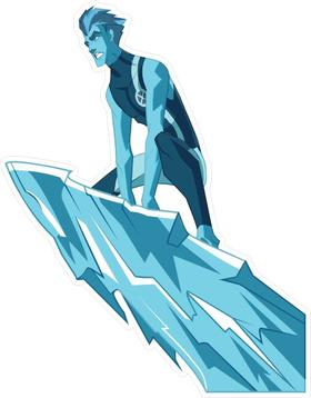 X-men Iceman Decal / Sticker 01