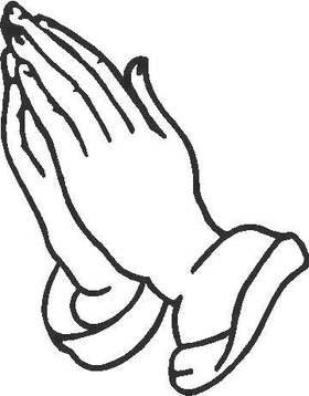 Praying Hands Decal / Sticker
