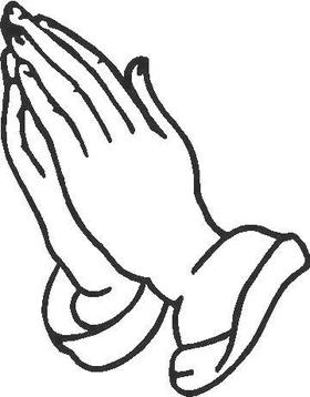 Praying Hands Decal / Sticker