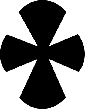 Christian Cross Decal / Sticker 12