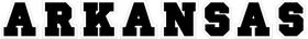 Arkansas Lettering Decal / Sticker 02