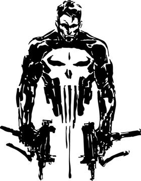 Punisher Guns Decal / Sticker 173
