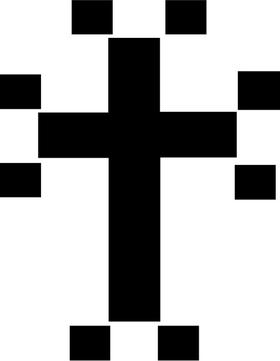 Christian Cross Decal / Sticker 37