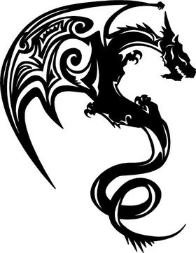 Dragon Decal / Sticker 08