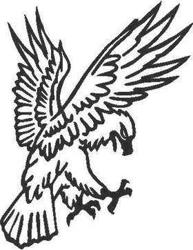 Eagle Decal / Sticker 06