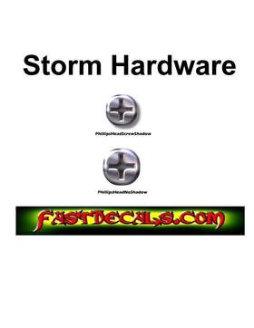Sheet of 50 Hardware Rivets and Screw Head Decals / Stickers