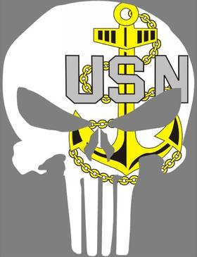 Navy Chief Anchor Punisher Decal / Sticker 123