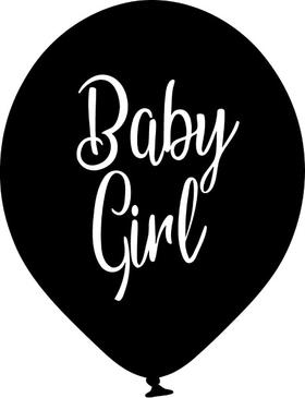 Baby Girl Balloon Decal / Sticker 02