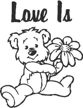 Love Is - Teddy Bear Decal / Sticker