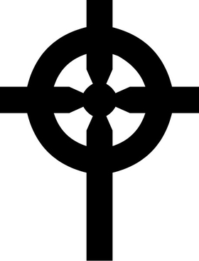 Christian Cross Decal / Sticker 96