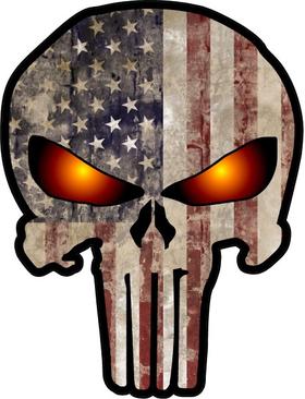 American Flag Punisher Decal / Sticker 72