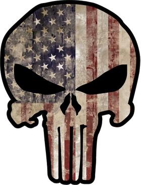 American Flag Punisher Decal / Sticker 90