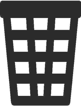 Trash Can 01 Decal / Sticker