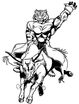 Tiger Riding a Bull Decal / Sticker