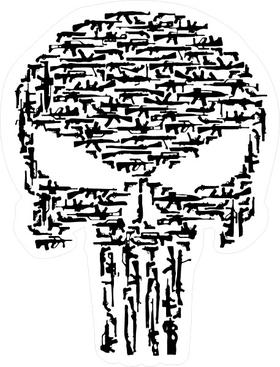 Gun Punisher Decal / Sticker 85