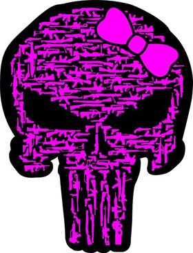 Gun Girl Punisher Decal / Sticker 88