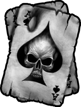 Ace of Spades Skull Decal / Sticker 01