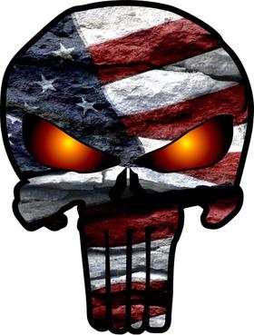 American Flag Punisher Decal / Sticker 71