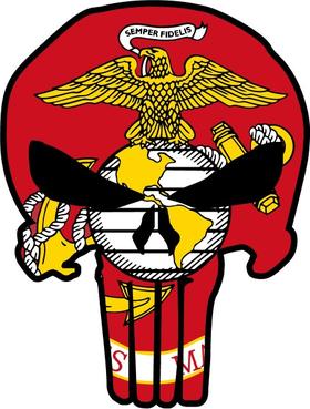 Marines Flag Punisher Decal / Sticker 99