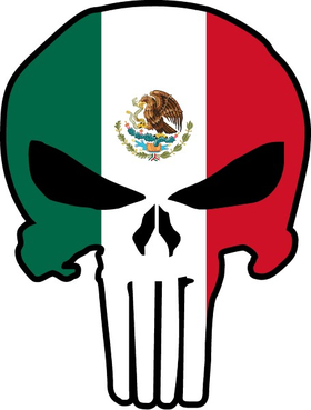 Mexian Flag Punisher Decal / Sticker 133