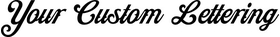 Z Custom Classic Motorcycle Lettering Decal / Sticker 01