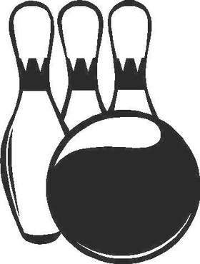 Bowling Pins and Ball Decal / Sticker