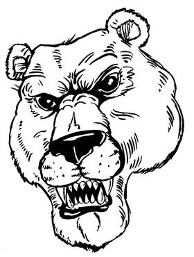 Bear Mascot Decal / Sticker