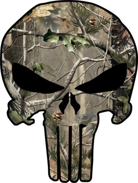 Camouflage Punisher Decal / Sticker 58