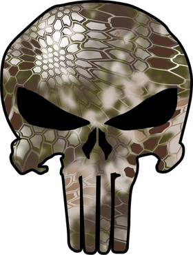 Camouflage Punisher Decal / Sticker 60