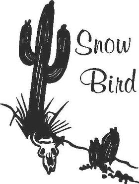 Snow Bird Decal / Sticker