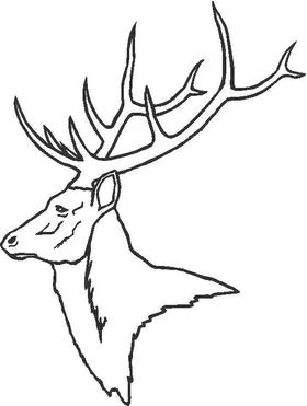 Buck Deer Decal / Sticker 08