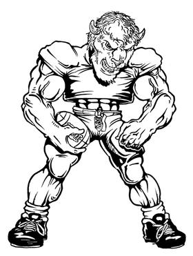Football Buffalo Mascot Decal / Sticker fb5